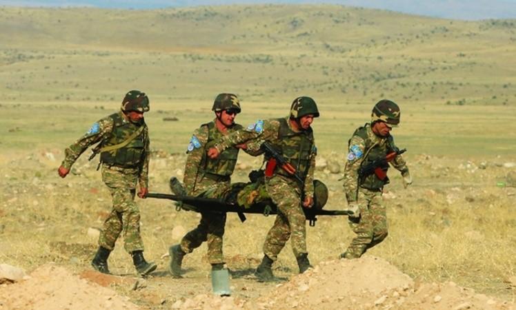 "Záběry z arménského cvičení KPS OSKB ""Nezničitelné Partnerství 2015"". (Zdroj: Ministerstvo obrany Republiky Arménie, 2015. http://www.mil.am/en/news/3722)"