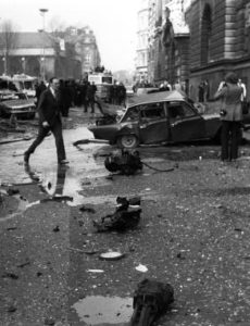 File photo dated 08/03/73 of the wreckage after a bomb exploded outside the Old Bailey as it is reported that Dolours Price has been found dead at her home in Malahide, Dublin.