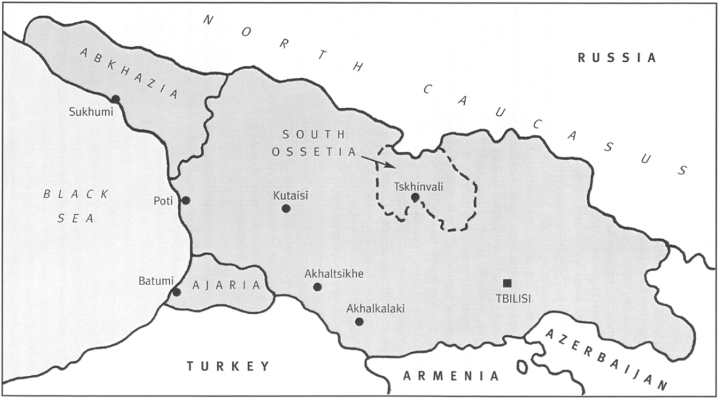 map 1 georgia and its soviet